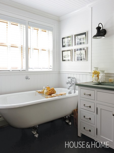 White cottage bathroom