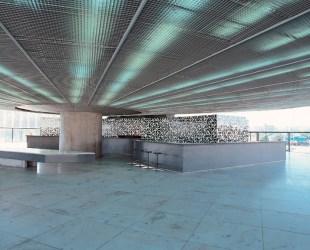 Painel azulejo Memorial América Latina em SP