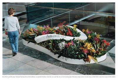 Havaiana: Cama de Flores