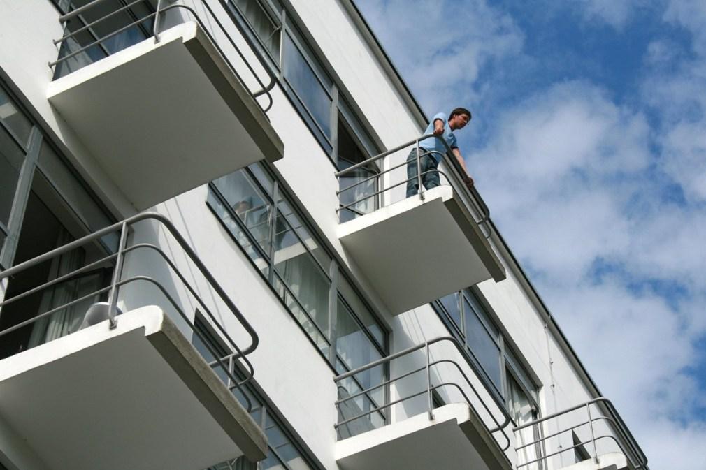 Varandas Bauhaus do estúdio / Stiftung Bauhaus Dessau, Foto: Yvonne Tenschert