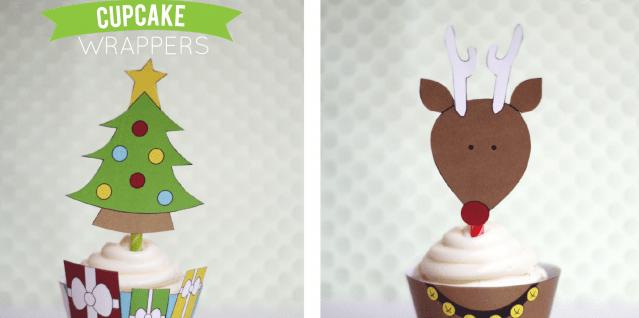 Christmas Cupcake Wrappers {free Printable}