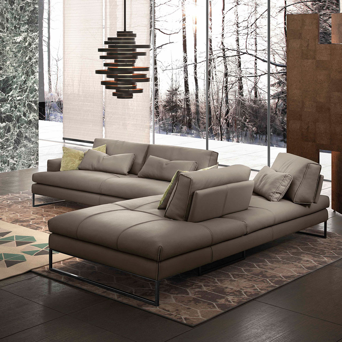 leather sofa with fabric seat cushions cotton covers uk sunset - design depot furniture miami showroom