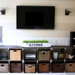 Media Center Living Room Yellow Chairs For How To Build A Out Of Pallets Taryn Whiteaker Pallet Art Drawers