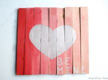 Mini Pallet Valentine's Day Art - Taryn Whiteaker