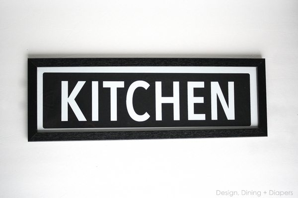 Kitchen Sign Tutorial 36th Avenue