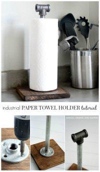 Industrial Paper Towel Holder Tutorial