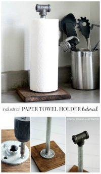 Industrial Paper Towel Holder Tutorial - The 36th AVENUE