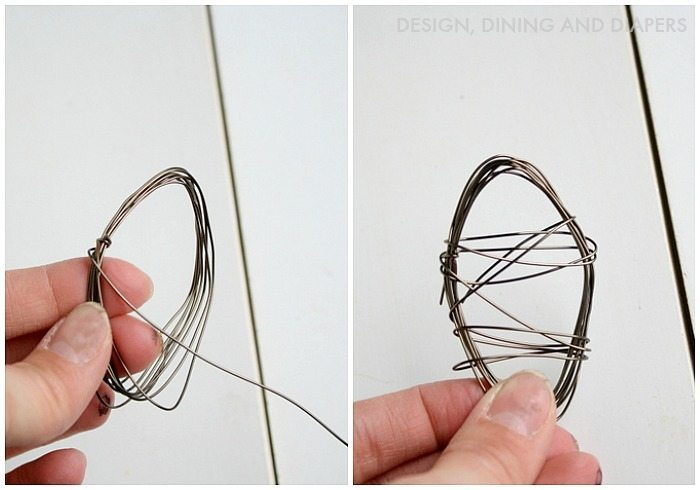 Wire Easter Eggs! Via @tarynatddd