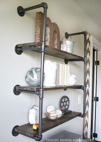 DIY Industrial Piping Shelves - Get the farmhouse look!