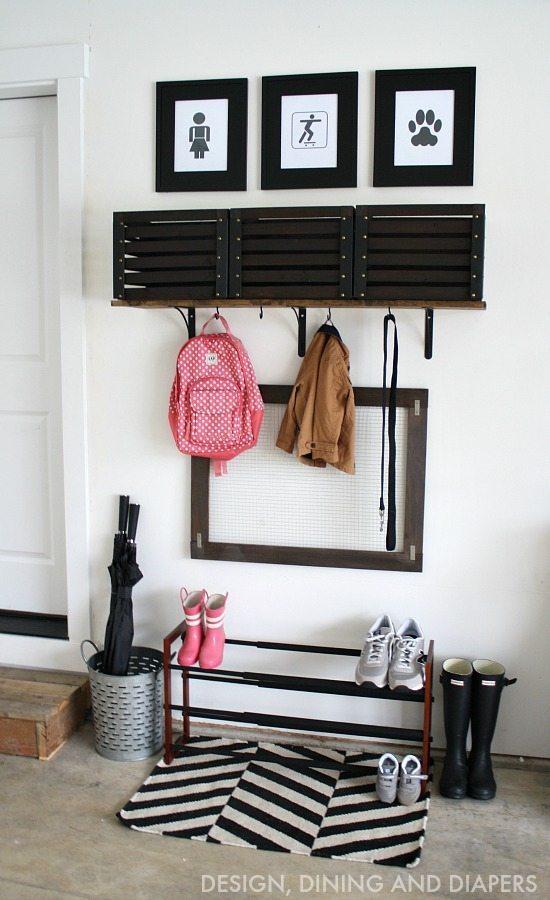 DIY Garage Mudroom - inexpensive way to organize you and your kiddos