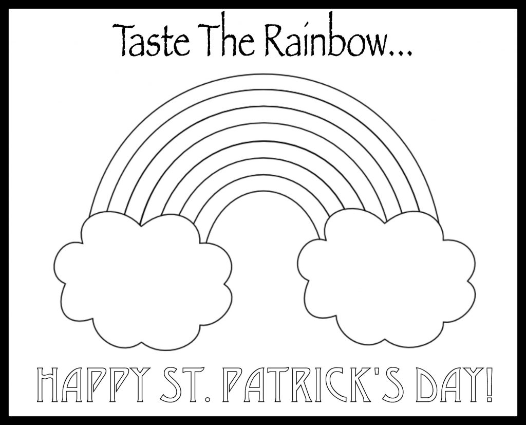 Eat A Rainbow Coloring Pages For Kids Eat A Rainbow Coloring Pages For Kids