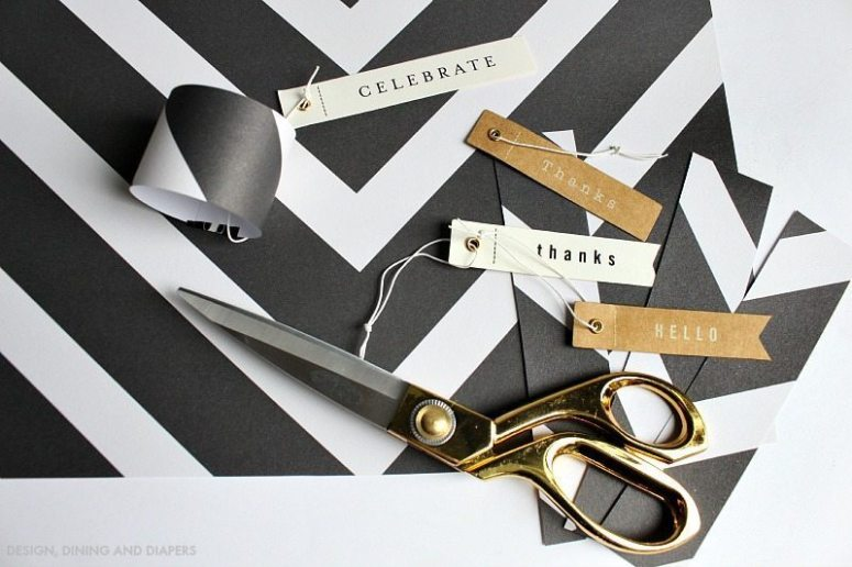Black and White Easy Napkin Holders