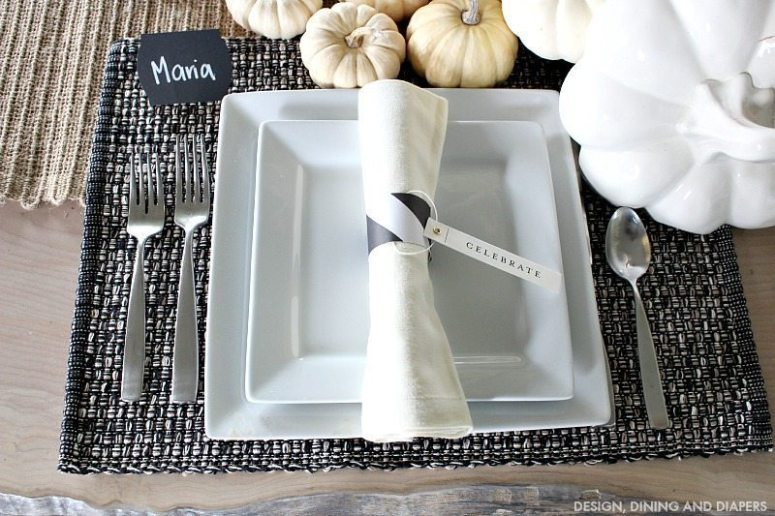 Neutral Fall Place Setting