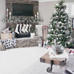 Pictures Of Living Room Decorated For Christmas Small Two Sofas Decorations Taryn Whiteaker