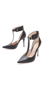 Elizabeth and James, Saucy Ankle Cuff Pump, $325