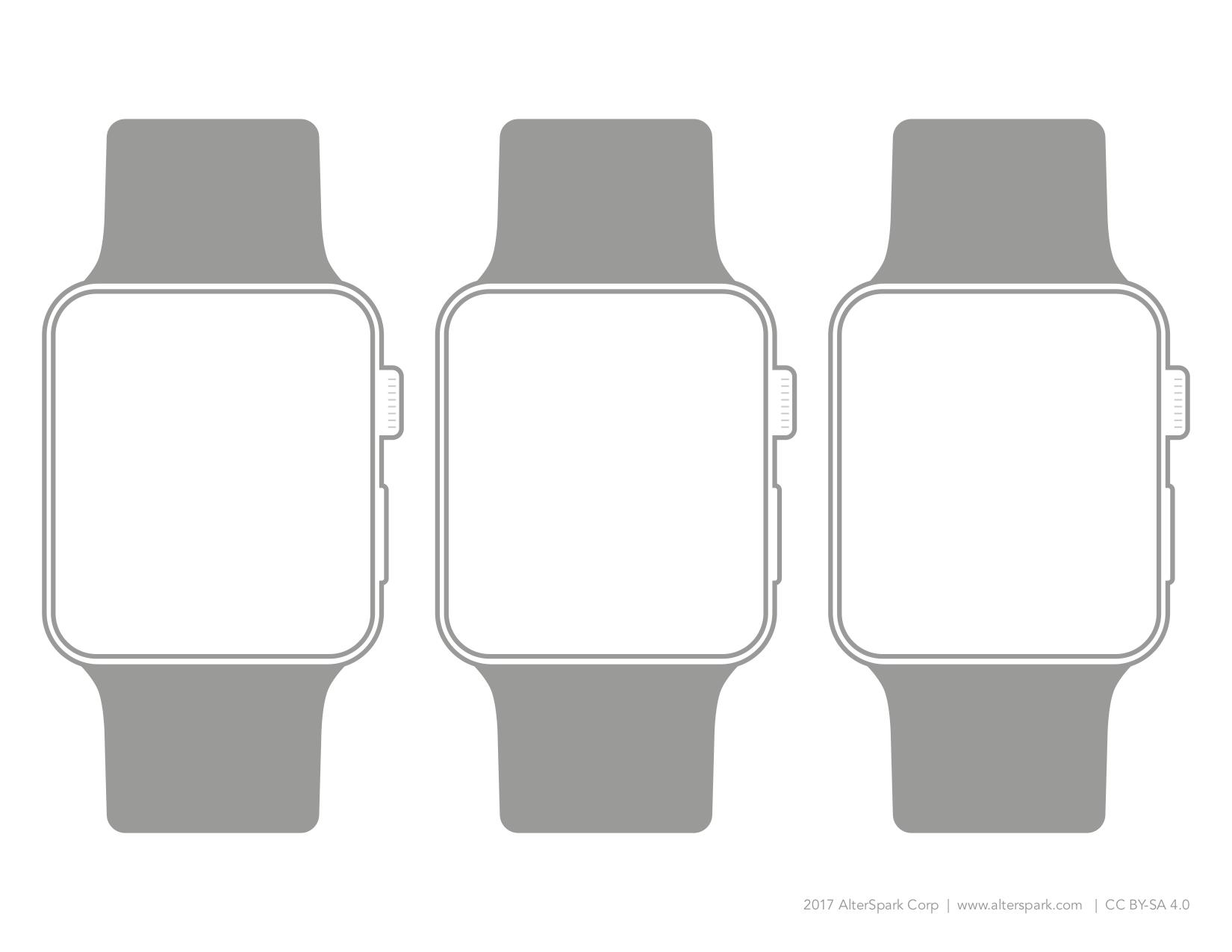 Šablona pro hodinky v šabloně Alterspark.