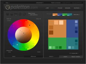 Export barev v nástroji Paletton