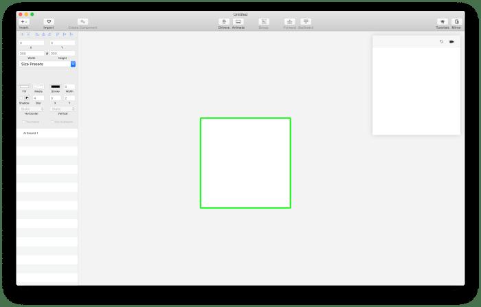 V tomto nástroji lze vytvářet návrhy nebo je importovat ze Sketch