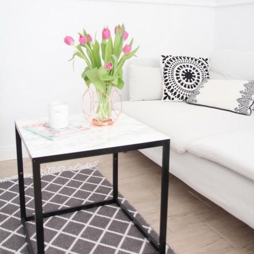 DIYBeistelltisch mit Marmorplatte IkeaHack  DESIGN DOTS