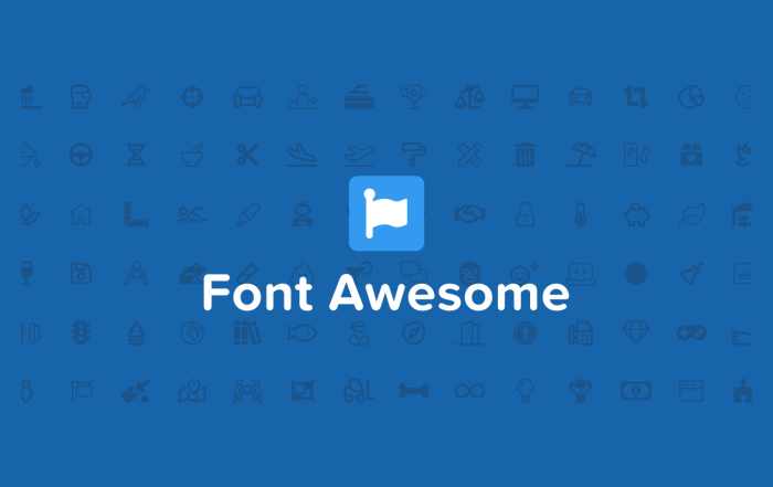 Font Awesome icon font