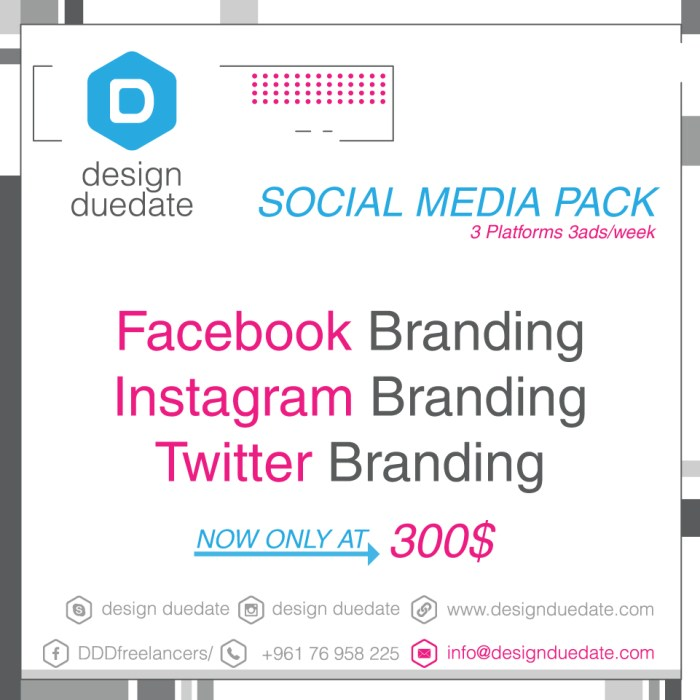 Lebanon - Graphic Designer -Social Media- Packages - Design Duedate