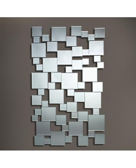 Miroir design Pixels Moderne Contemporain Rectangulaire Naturel 85x141cm