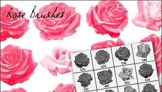 кисти для фотошопа розы