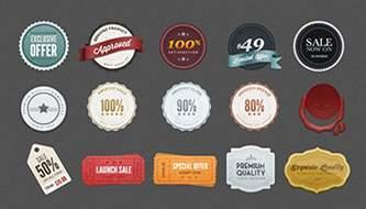 30 бесплатных лент и значков для дизайнеров