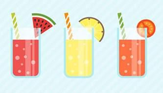 Подборка вектора на тему напитков