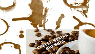 Пятна от кофе - реалистические кисти для фотошоп