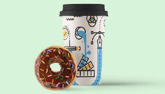 PSD Mockup файлы чашки кофе, кружки и стакана