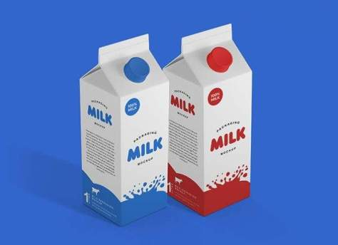 Упаковка из под молока Mock-Up