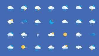 Лучшие бесплатные иконки на тему погоды