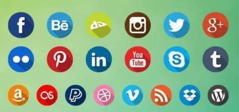 Подборка иконок социальных сетей для ваших работ