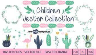 Бесплатная детская векторная коллекция