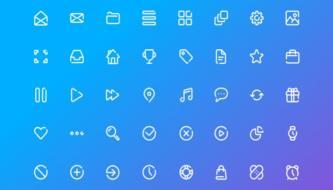 Подборка из 12 наборов бесплатных векторных иконок