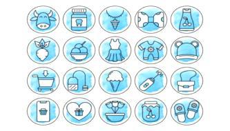 Пакет иконок на на различную тематику