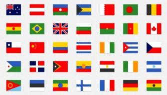 Набор лучших бесплатных иконок флагов стран