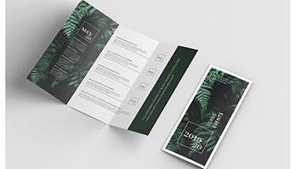 Огромная подборка дизайнерских мокапов листовки, флаера, брошюры