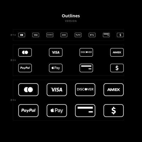 Значки оплаты кредитной картой
