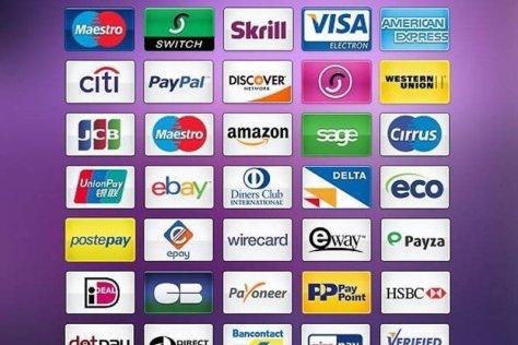 Иконки бесплатных платежных систем