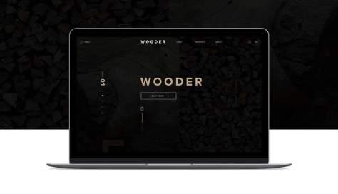 Wooder PSD Веб-шаблон Adobe Photoshop