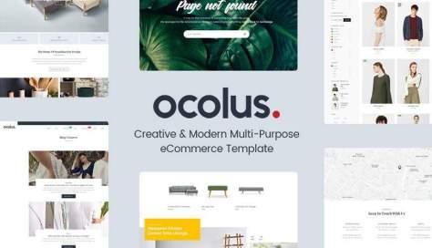 PSD веб-шаблон для современной электронной коммерции Ocolus Adobe Photoshop