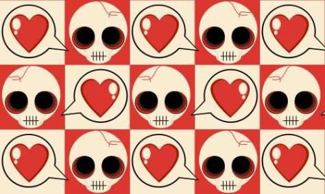 образец сердца черепа
