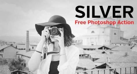 серебряные цветовые эффекты бесплатно фотошоп действий