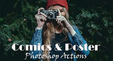 Comic Poster спецэффекты фото бесплатные фотошоп акции