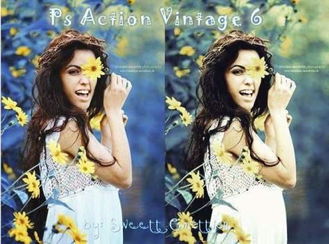Ps Action Vintage 6 Фотошоп