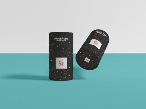 Бумажный тубус-упаковка-макет