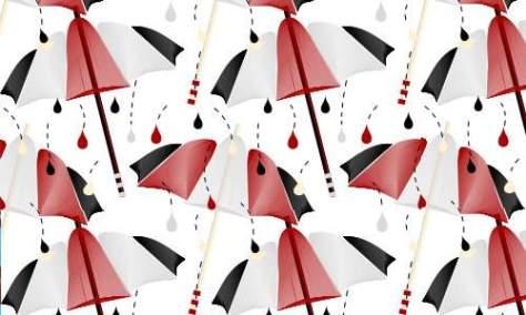 Кровавый дождь зонтик