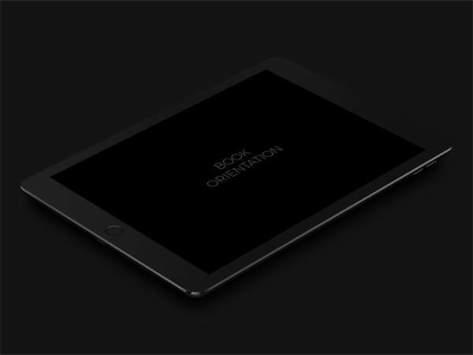 черный макет темный